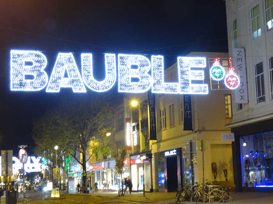 Bauble - Gala Lights bespoke across street decoration