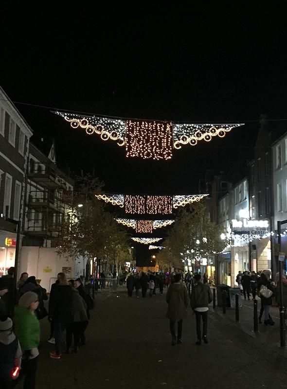 Carlisle across street decorations