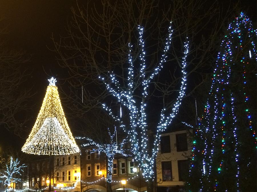 Carlisle Christmas tree and lights