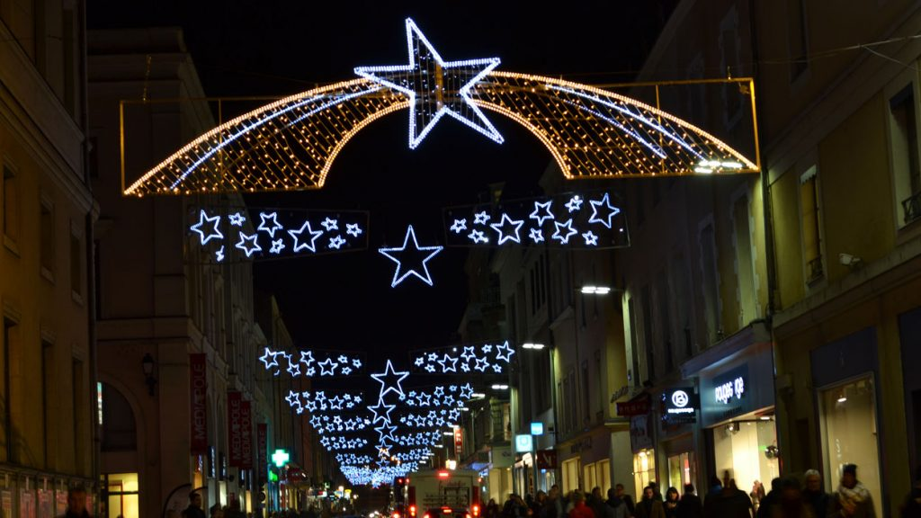 Across street decoration bespoke Christmas lights. Rotherham ...