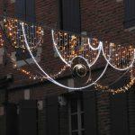 Across street decoration bespoke Christmas lights