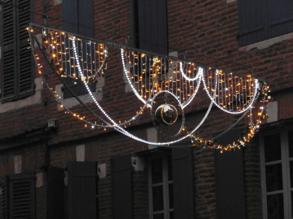 Across street decoration bespoke Christmas lights
