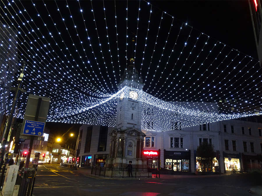 Brighton Clock Tower Christmas Lights Canopy Of