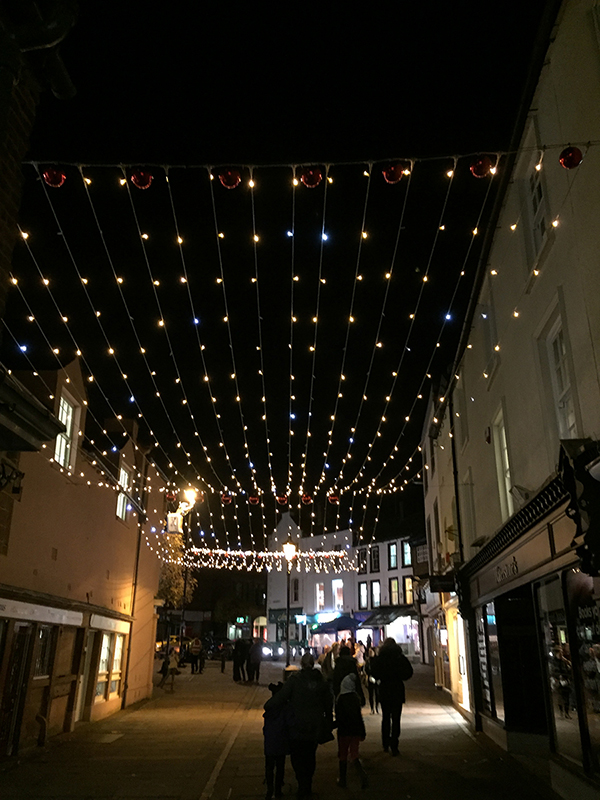 Carlisle curtain of light along street