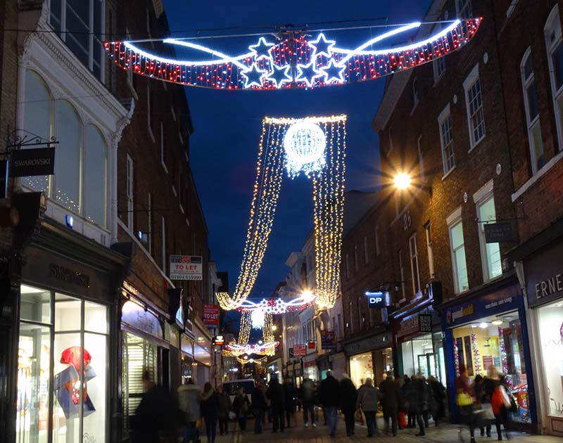 york city centre christmas lights